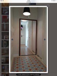 lustro na drzwiach
