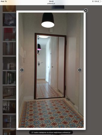 Lustro na drzwi